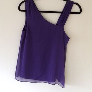 Alice + Olivia Tops - Alice + olivia purple silk tank blouse S