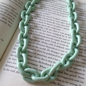 Mint chain necklace