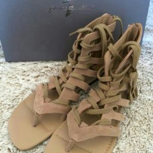 7 for all mankind gladiator sandals