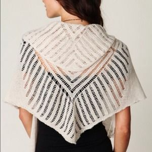Free people spinning diamond shawl, cream