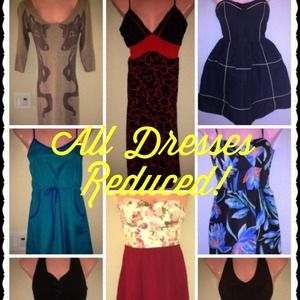 All dress marked down to sell fast!