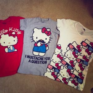 3 Hello Kitty shirts