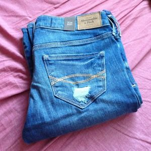 Abercrombie Distressed Bootcut Jeans!