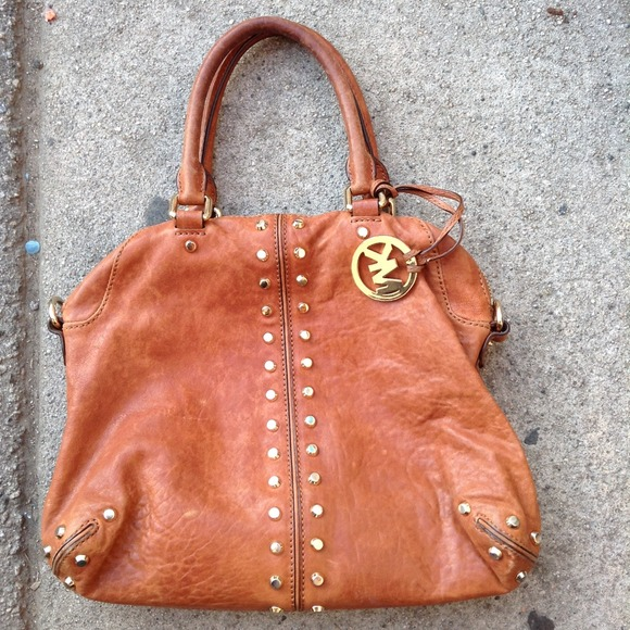 michael kors tan purse
