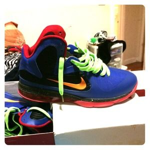 nike retro yellow lebron james shoes