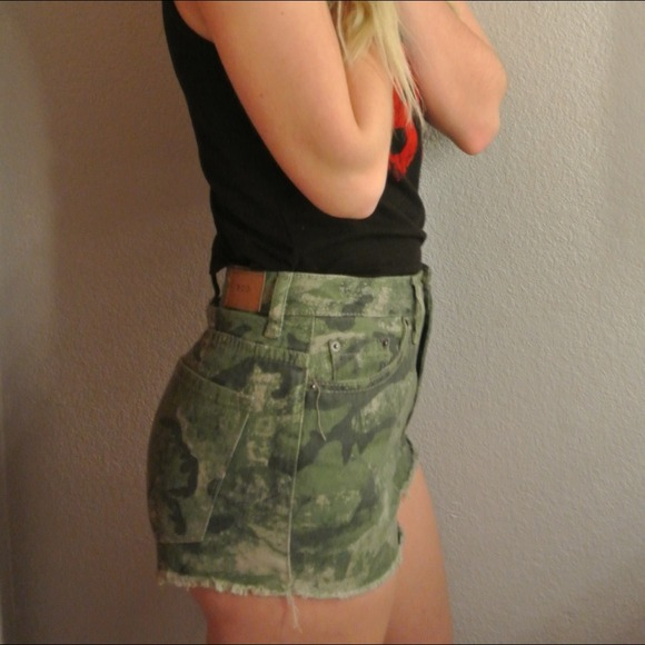 Urban Outfitters - SOLD // Urban BDG camo high waisted shorts ...
