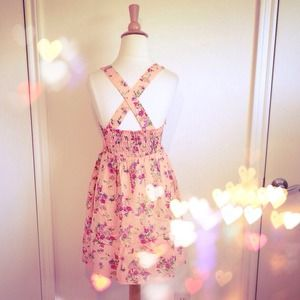 Dresses & Skirts - 🎉HP🎉Peach & Pastel Floral Dress