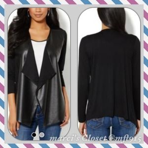 🎉HOST PICK🎉   FAUX-LEATHER CARDIGAN SALE
