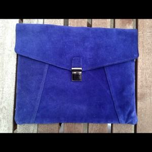 Oversized envelope ASOS suede clutch