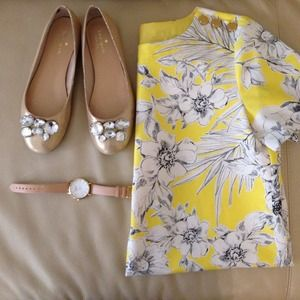 🎉2X Host Pick🎉💎Kate Spade crystal gold flats💎