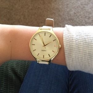 ASOS Accessories - Gold and white watch
