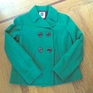 Green GAP PEACOAT SZ. Small