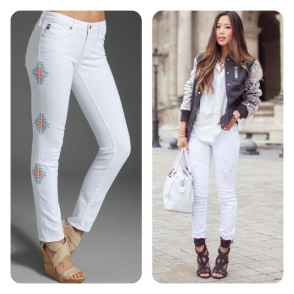 ag white jeans - Jean Yu Beauty
