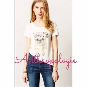 New - Anthropologie art pug tee