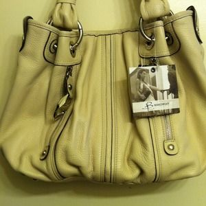 B. Makowski All Leather Satchel