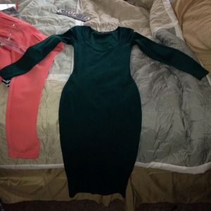 ASOS Dresses & Skirts - *$30 pp*Asos Hunter Green Bodycon Midi Dress Sz 4!