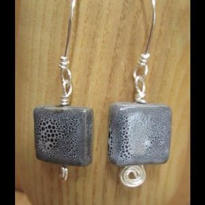 Handcrafted Ceramic Bead Earrings