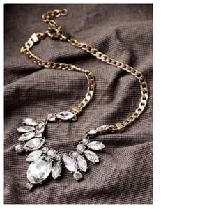 Jewelry - The Elle Crystal & Brass Statement Necklace