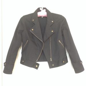 Jackets & Blazers - Biker Moto cotton jacket