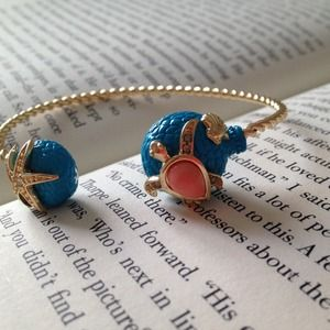 Adorable Turtle and starfish cuff