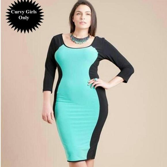 67% off Symphony Dresses & Skirts - PLUS SIZE Mint/Black Hourglass ...