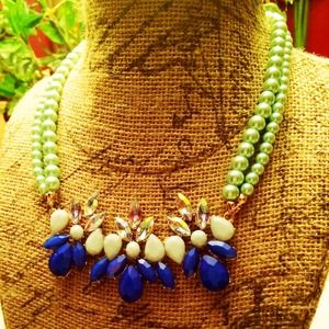 Jewelry - NEW Blue and Mint Necklace