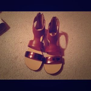 Size 6 Matisse Leather Sandals (Marcus)