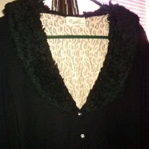 Boutique Forever 21 Black Cardigan Sweater