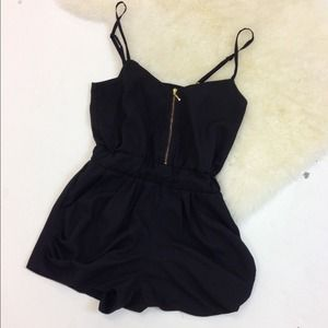 Dresses & Skirts - 6/16 HOST PICK! Fun and Chic Black Romper