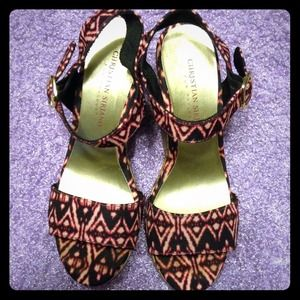 Christian Siriano Shoes - Tribal Wedges- Christian Siriano
