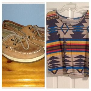 Tops - Sperry and Shirt Bundle