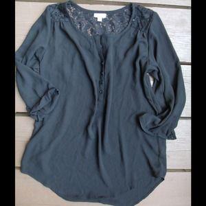 TJ Maxx Tops - Silky black blouse