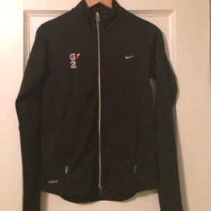 Nike Fit Dry zip up black jacket