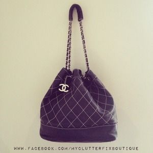 Chanel Drawstring Bag in Navy