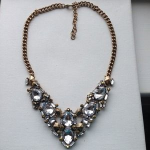 Crystals & metal statement necklace