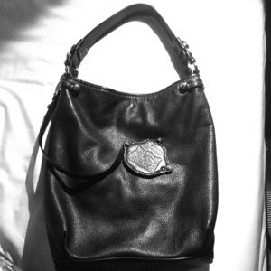 Juicy Couture Black Leather Shoulder Bag 89