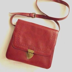 Handbags - *NEW* dark red faux leather cross body bag
