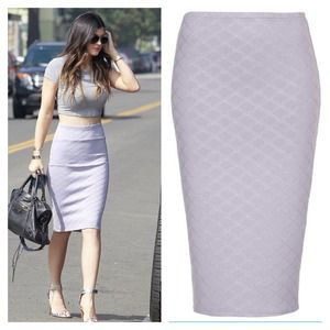Topshop Dresses & Skirts - Lilac quilted pencil skirt