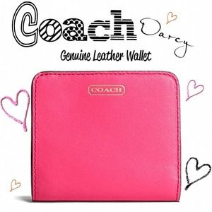 NWT COACH Darcy Genuine Saffiano Leather Wallet