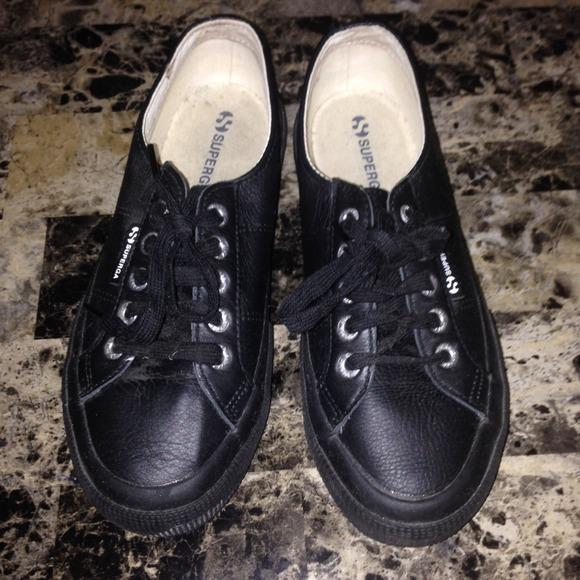 Superga   Black Leather Sneakers. M 534cd3d30fb6cd054a2cb74f 8f010ce07