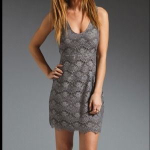 Soft Joie Gray Lace dress