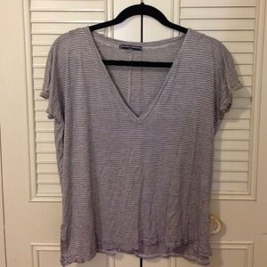 Brandy Melville Striped Vneck