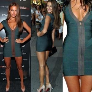 Herve Leger Dresses & Skirts - Green Herve Leger Bandage Dress 👗