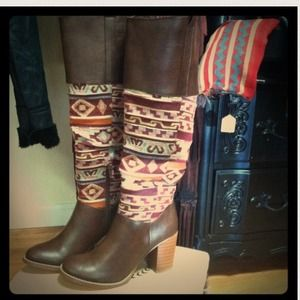 Now-H Freebird Inspired Aztec Tribal Tall Boots