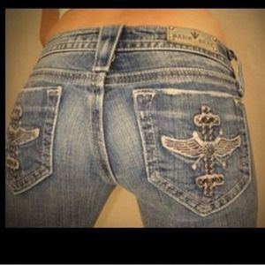 Sang Real Miss Me Inspired Wing Boot Cut Jeans 29