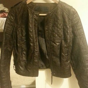Zara Jackets & Blazers - Zara Chocolate Brown Leather Jacket