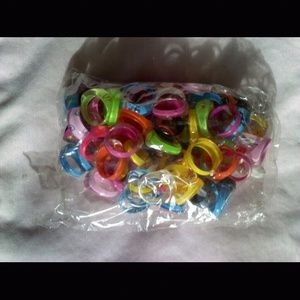 Jewelry - Variety Plastic Rings sizes 7-9