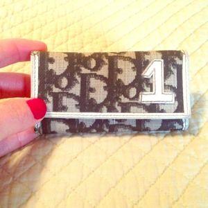 Authentic Christian Dior key wallet, black&white