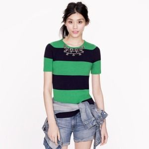J.crew jeweled stripe sweater