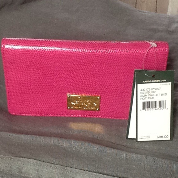 Pink Ralph Lauren wallet NWT 2d75ac006ee5a